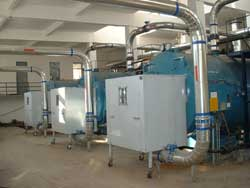 New, clean burning gas fuel boilers in Beijing China